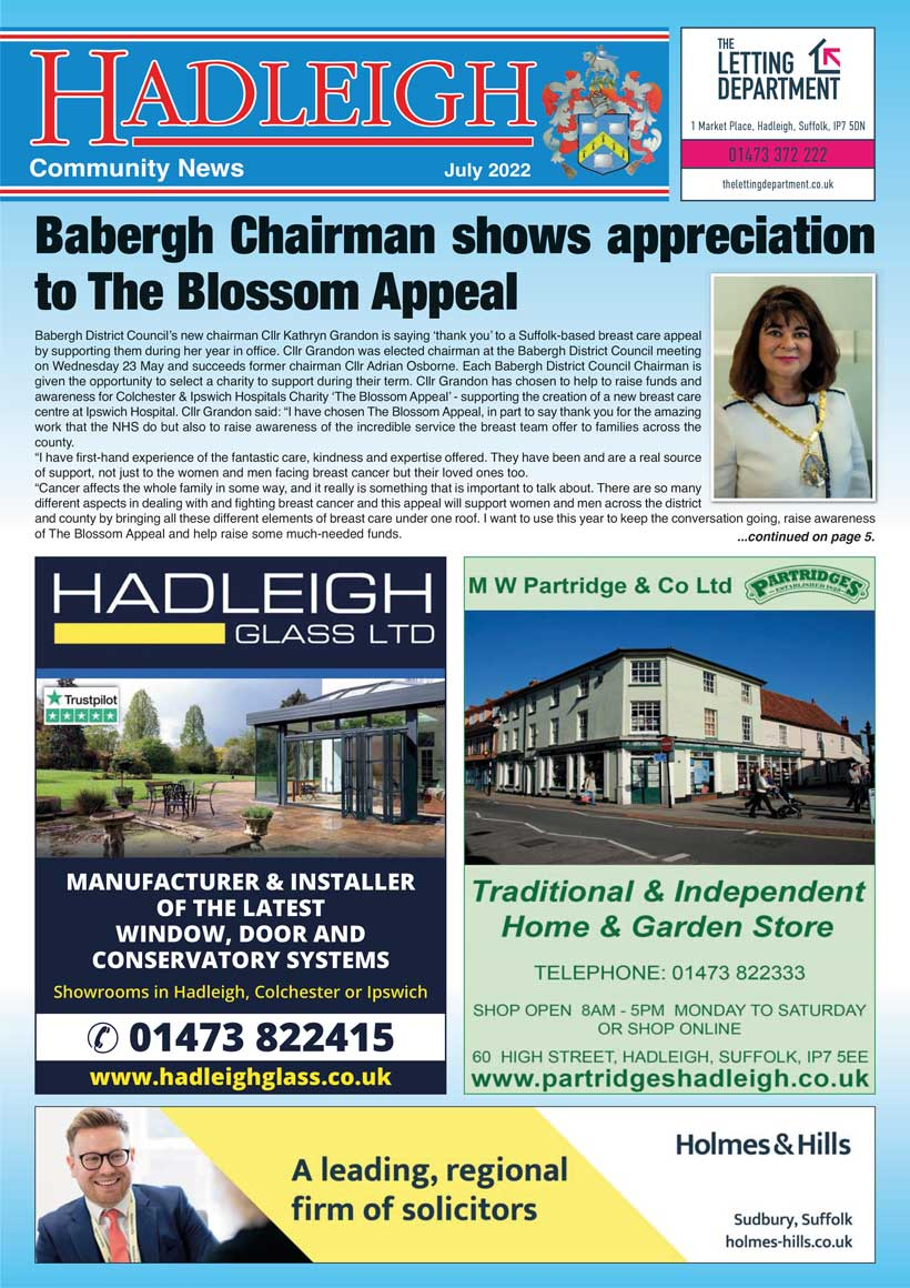 Hadleigh Community News Magazine Cover