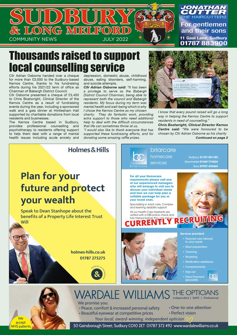 Sudbury Community News Magazine Cover